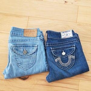True Religion 2 Pair Jeans Bundle size 28